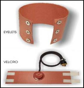 Silicone Heaters-Eyelets and Velcro Options