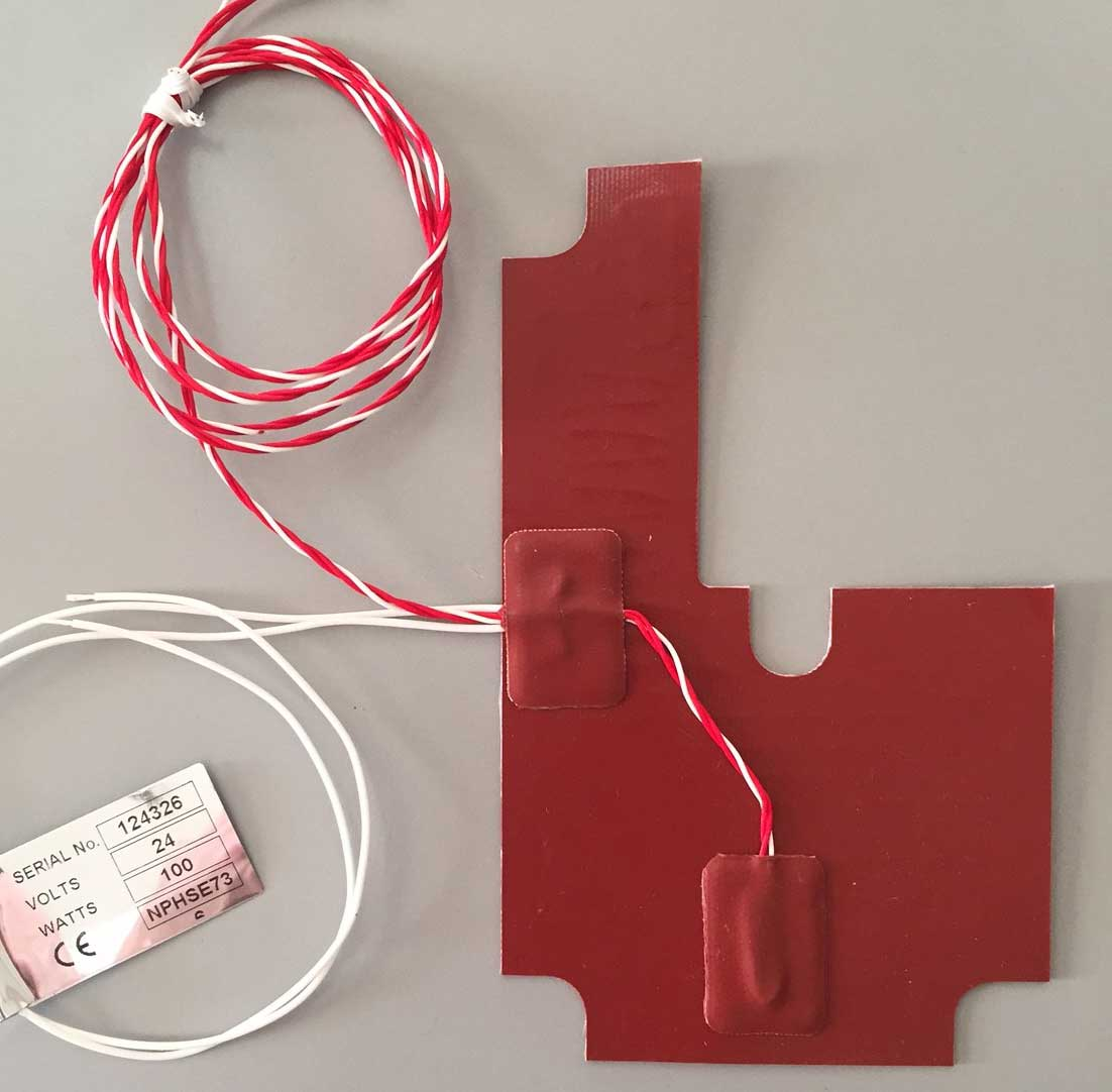 Analytical Device Silicone Heater With Sensor